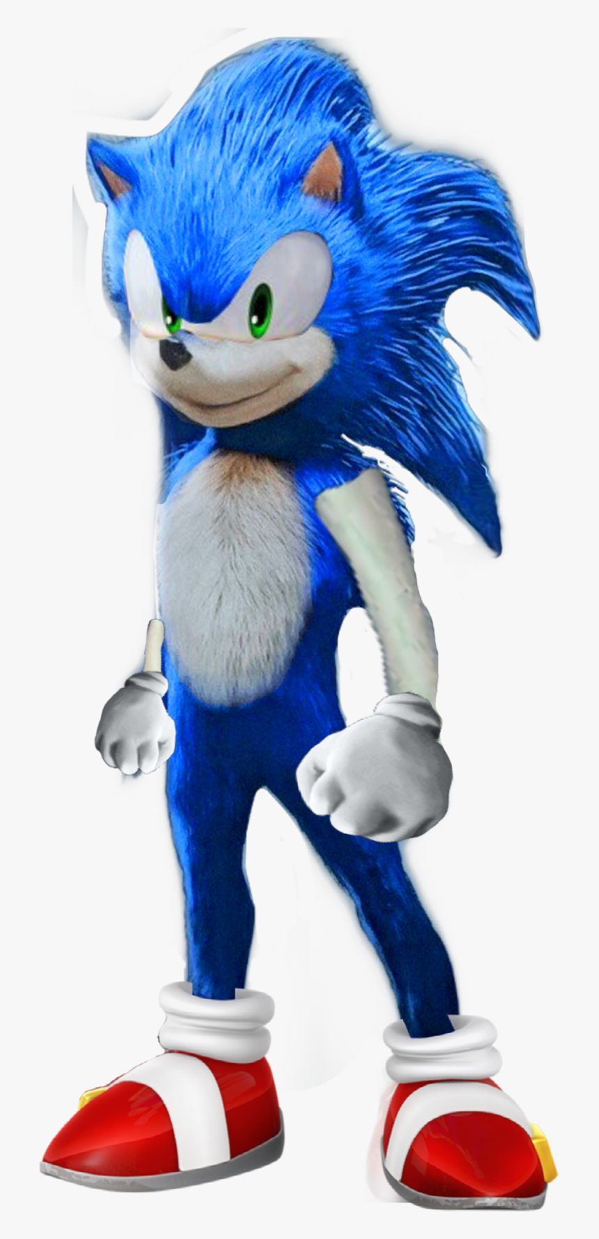Sonicmovie Sonic Movie Fixed 2020 Remake Freetoedit Sonic Redesign Fan Made Hd Png Download Kindpng