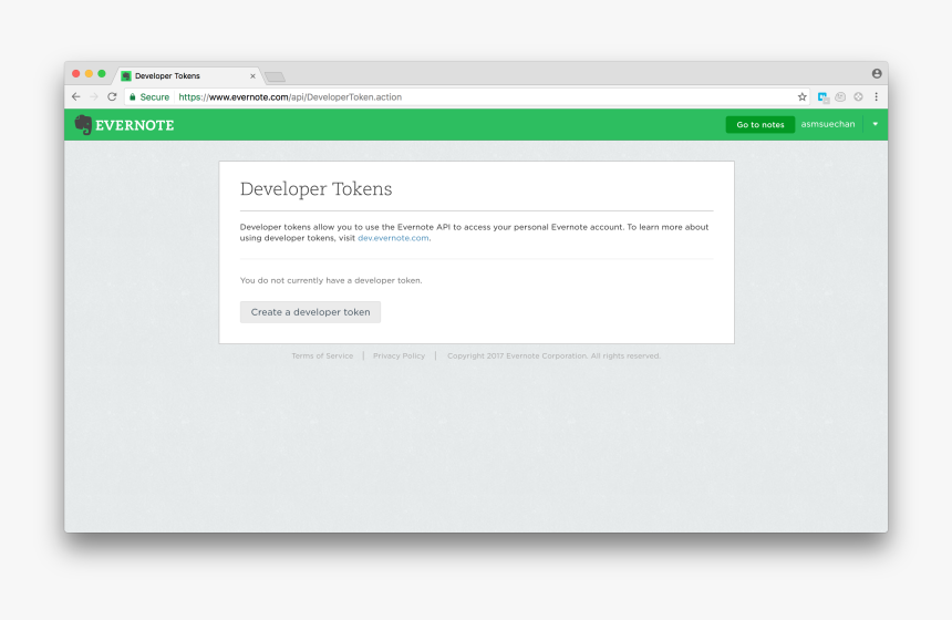 How To Get Your Developer Token - Evernote Boostnote, HD Png Download, Free Download
