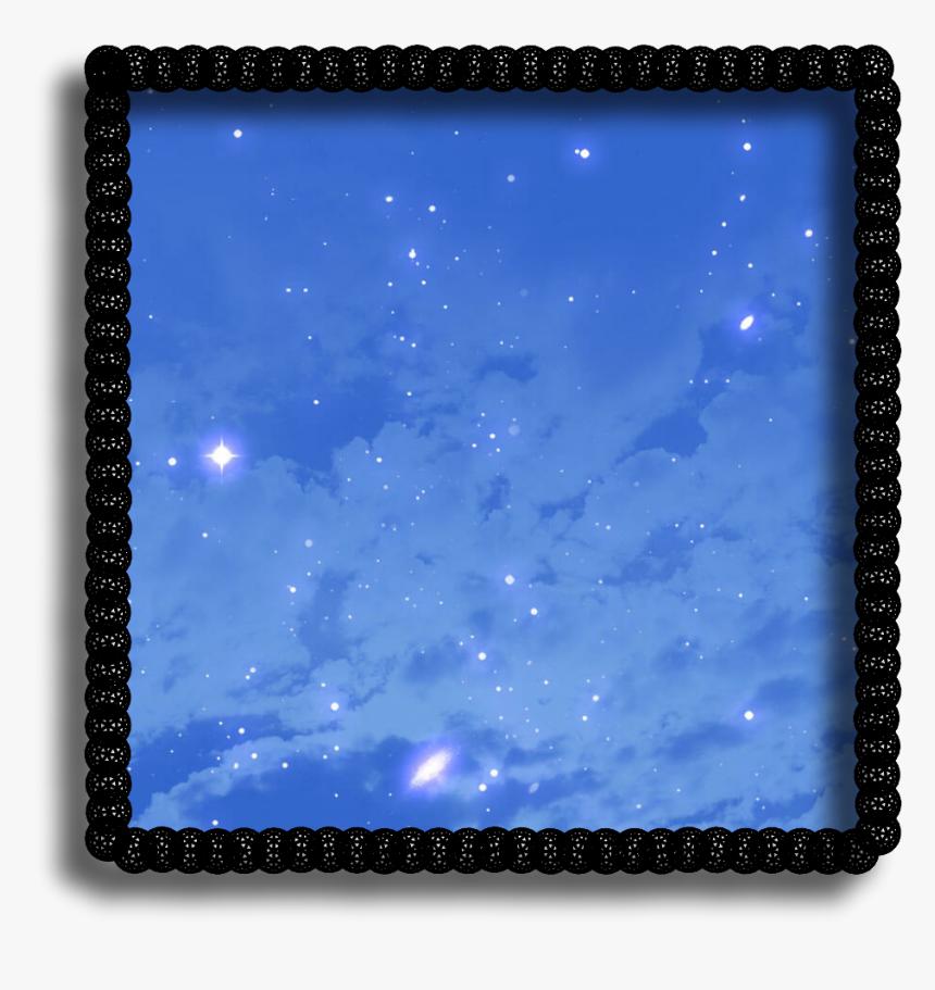 #neon #square #frame #background #black #border #blue - Slope, HD Png Download, Free Download