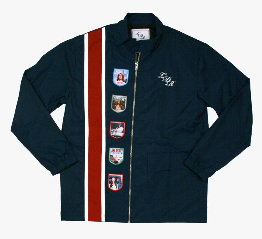 Lana Del Rey Racing Stripe Jacket Hd Png Download Kindpng