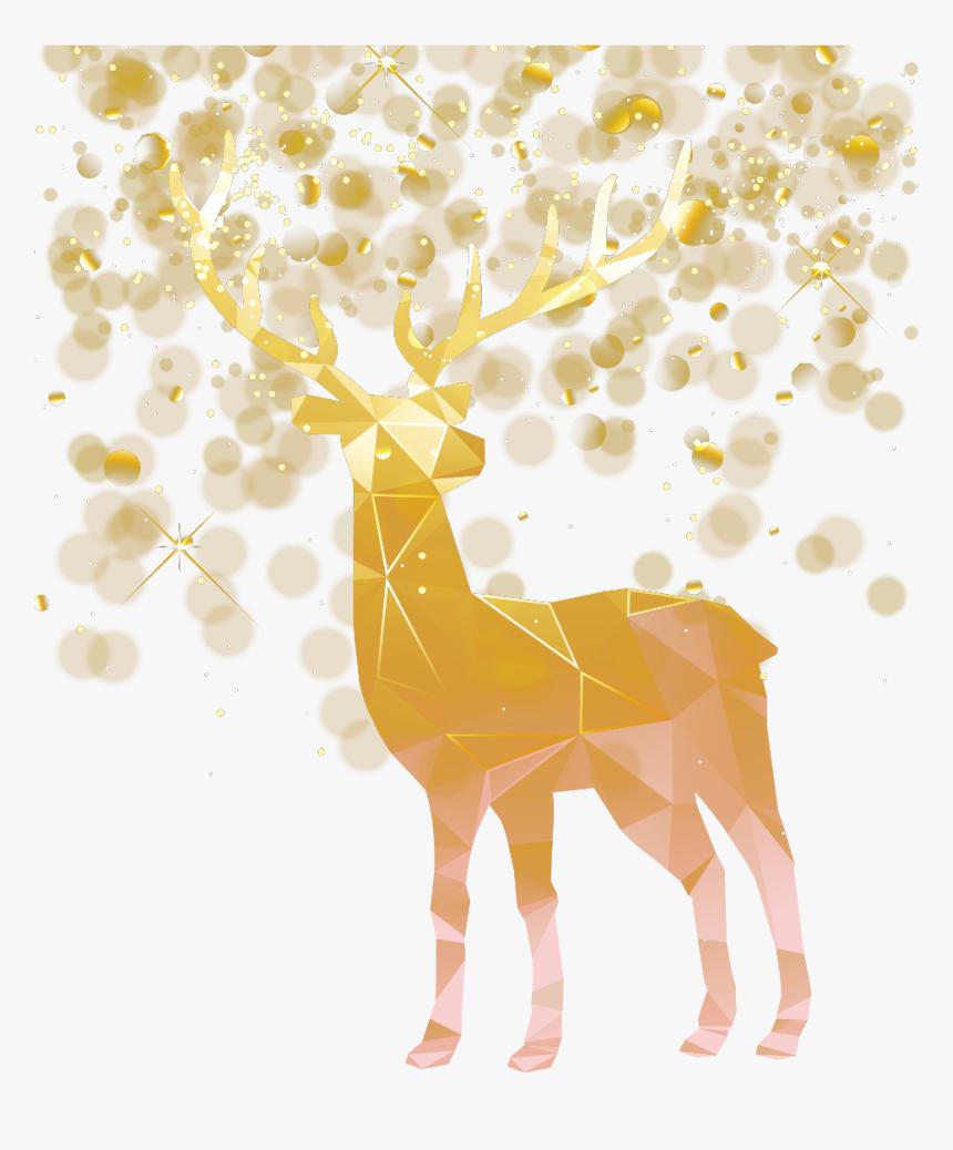 #gold #lights #brokeh #deer #geometricanimal #gold - Deer Icon Gold, HD Png Download, Free Download