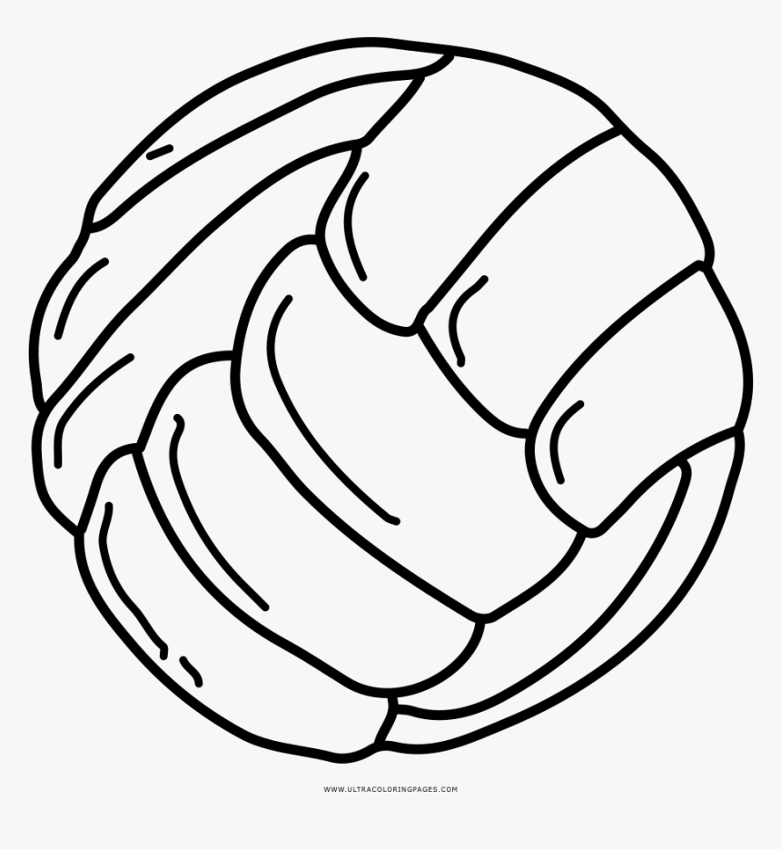 Volleyball Coloring Page - Line Art, HD Png Download, Free Download