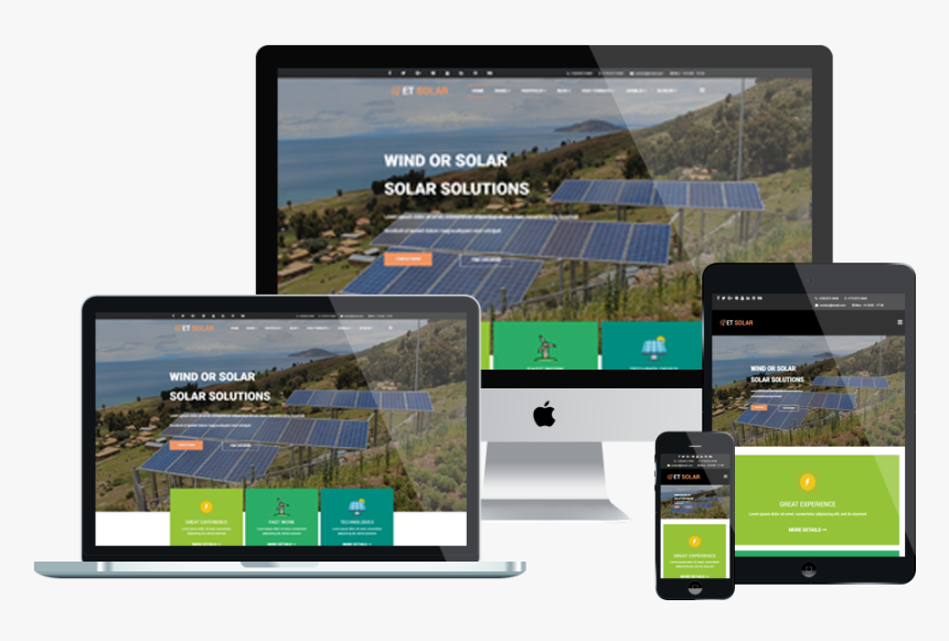 Et Solar Free Responsive Joomla Template Mockup - Mailing Template Mockup Free, HD Png Download, Free Download