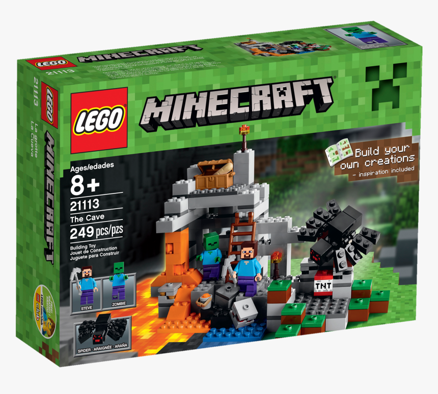 The Cave Box Front - Lego Minecraft, HD Png Download, Free Download
