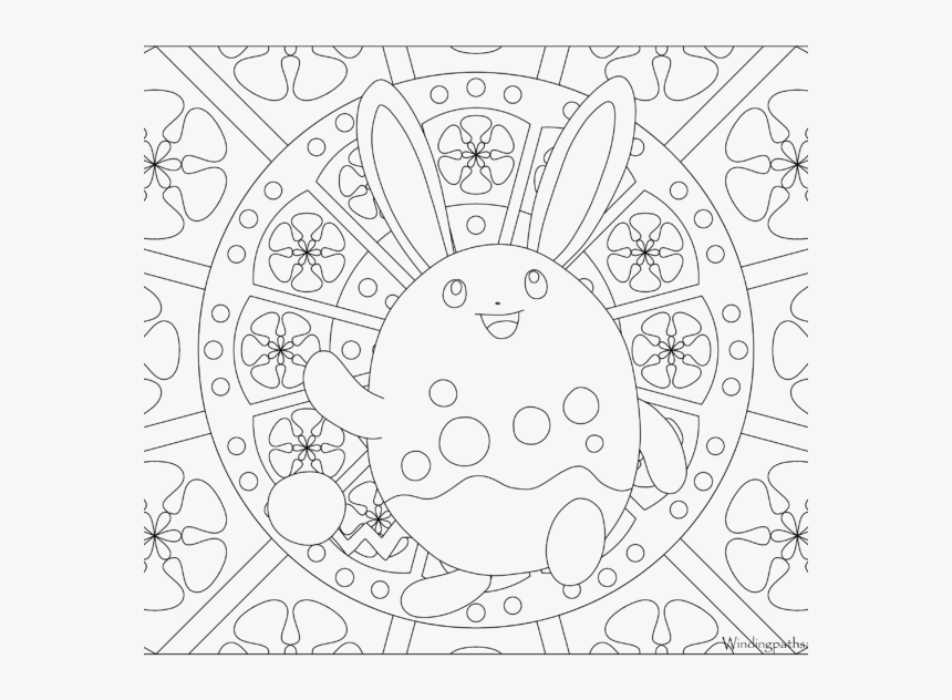 Adult Pokemon Coloring Page Azumarill , Png Download - Butterfree Pokemon Coloring Page, Transparent Png, Free Download