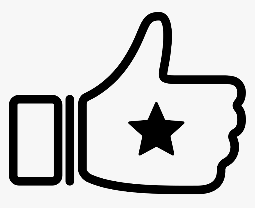 Thumb Up With Star - Thumbs Up Star Icon Png, Transparent Png, Free Download