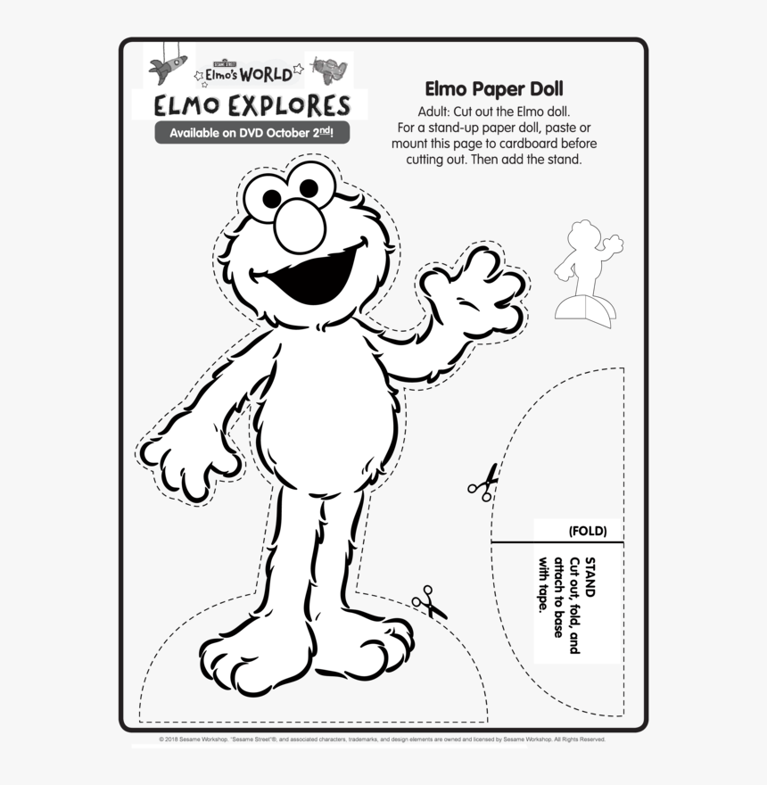 Sesame Street Elmo S World Cut Out Elmo Printables Hd Png