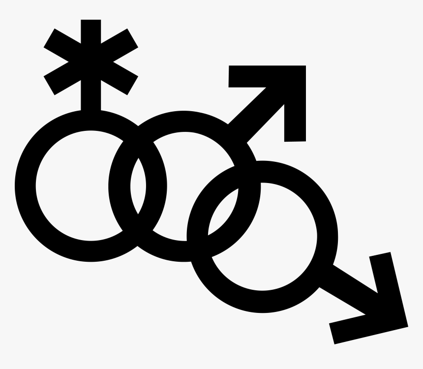 Mars Symbol Interlocked With A Nonbinary Symbol And - Non Binary Gender Icon, HD Png Download, Free Download