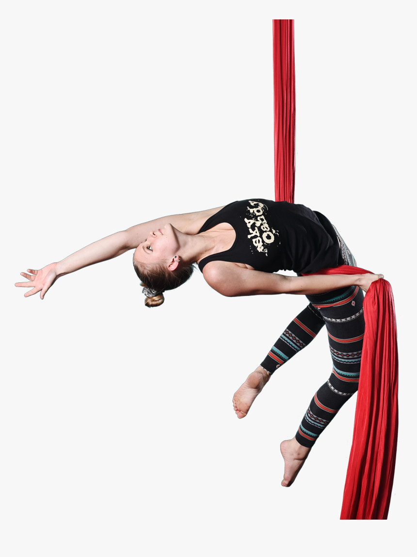 Female Student Performing On Aerial Silks - Acrobatics, HD Png Download, Free Download
