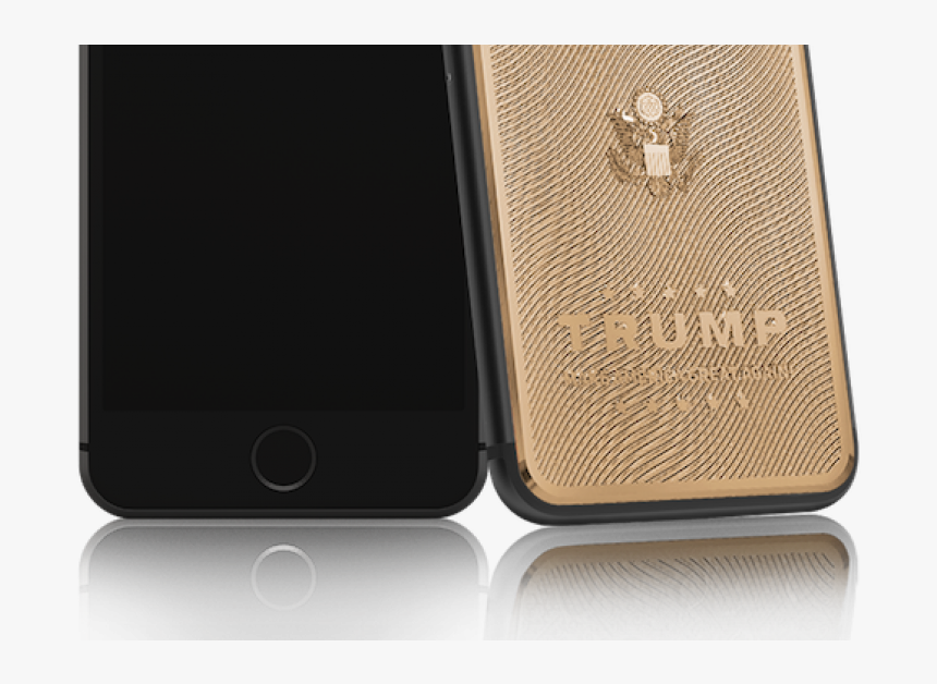 "Gold-plated Iphone 7 With Donald Trump""s Face Costs - Iphone De Donald Trump, HD Png Download, Free Download"