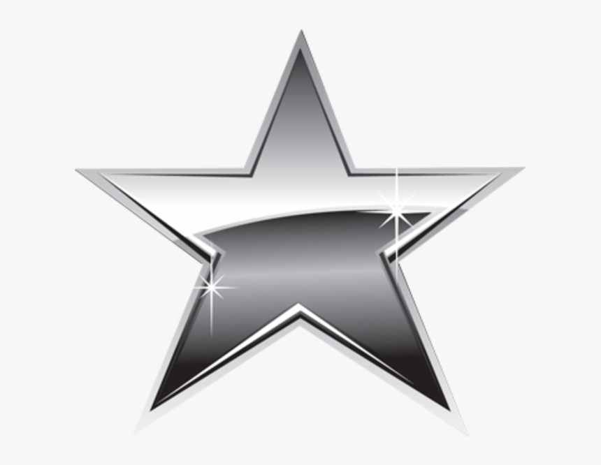 #ftestickers #silver #star #stars #estrela #gray #blackandwhite - Silver Star Clipart, HD Png Download, Free Download
