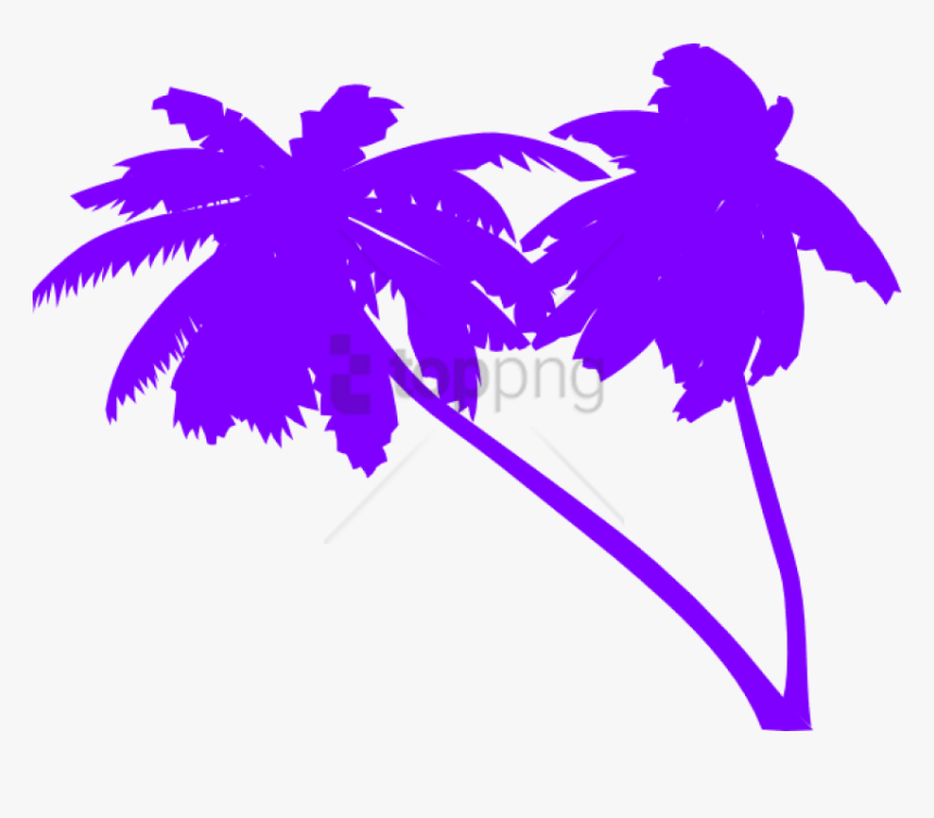 Free Png 80s Palm Tree Vector Png Image With Transparent - Palm Tree Clip Art, Png Download, Free Download