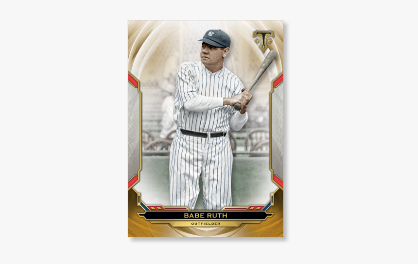 Babe Ruth 2019 Triple Threads Base Card Poster Gold - Ken Griffey 2019 Cards, HD Png Download, Free Download