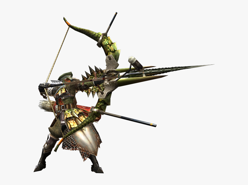 2ndgen-bow Equipment Render - Monster Hunter Bow, HD Png Download, Free Download