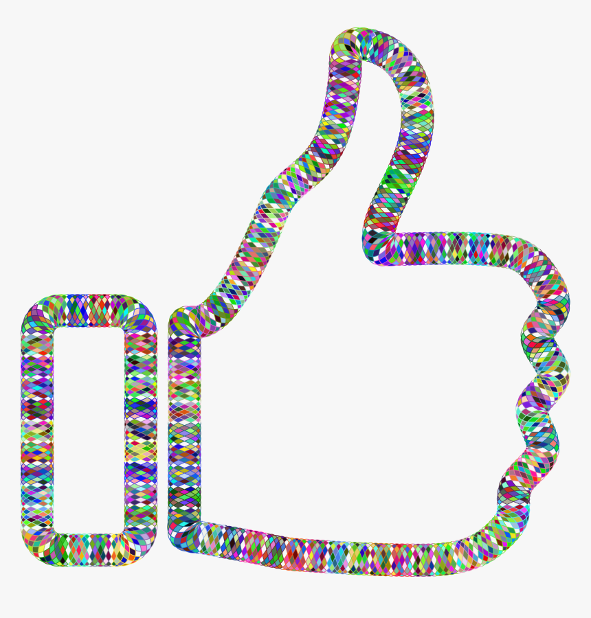 Prismatic Guilloche Thumbs Up Clip Arts - Condone Clipart, HD Png Download, Free Download