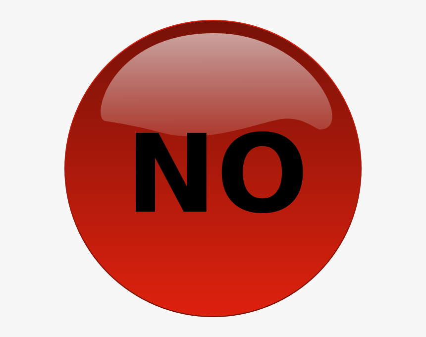 No Button Svg Clip Arts, HD Png Download, Free Download