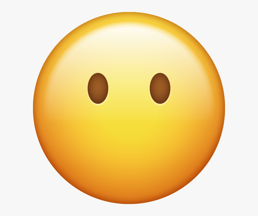 Download Emoji Without Mouth Emoji Face [iphone Ios - Iphone Smile Emoji  Png, Transparent Png - kindpng