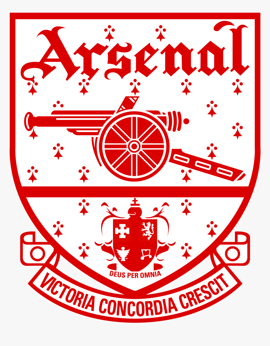 Black And White Arsenal Badge, HD Png Download, Free Download