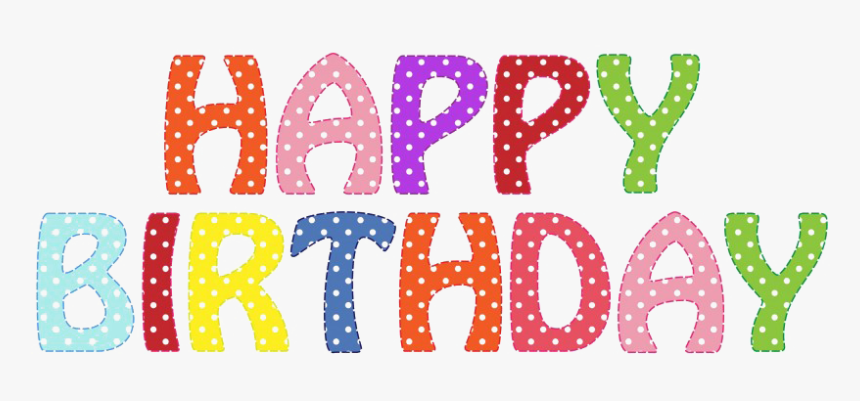 Happy Birthday Word Clip Art, HD Png Download, Free Download