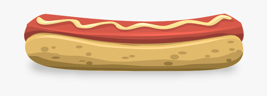 Hot Dog, Hotdog, Sausage, Food, Meat, Lunch, Snack - Horizontal Hot Dog, HD Png Download, Free Download