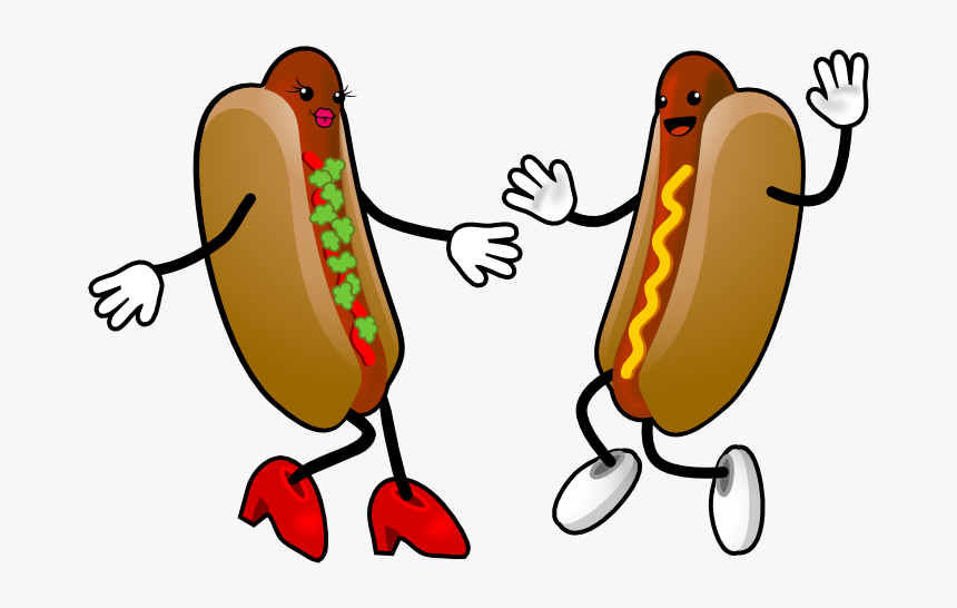 Hot Dog With Arms And Legs - Cartoon Hot Dog Clipart, HD Png Download, Free Download