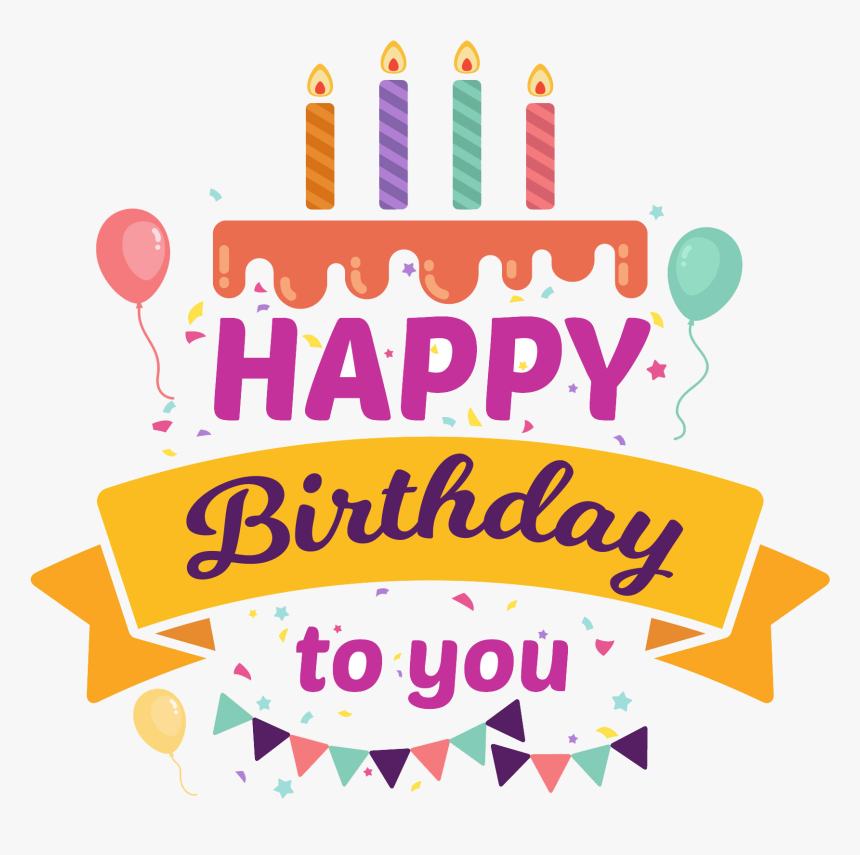Birthday Candles Png - Happy Birthday Sticker Png, Transparent Png, Free Download
