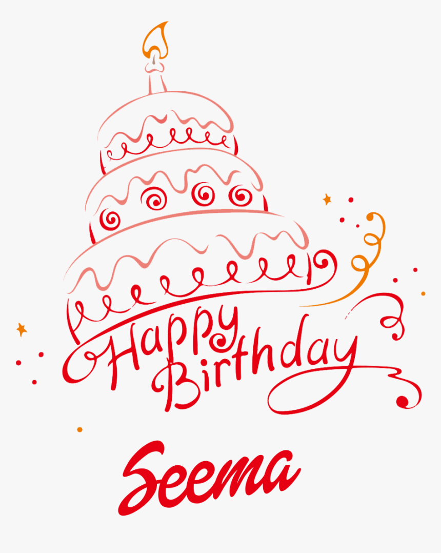 Seema Happy Birthday Vector Cake Name Png - Happy Birthday Bawa Cake, Transparent Png, Free Download