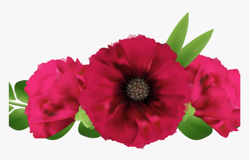 Beautiful Red Flowers Png Clip Art Image Gallery Yopriceville - Flores Frida Kahlo Png, Transparent Png, Free Download