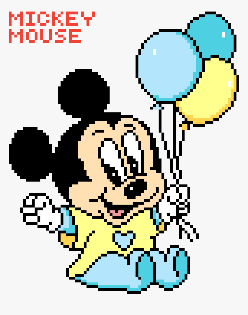 Mickey Mouse Pixel Art transparent pixel mouse png - pixel art mickey bebe, png