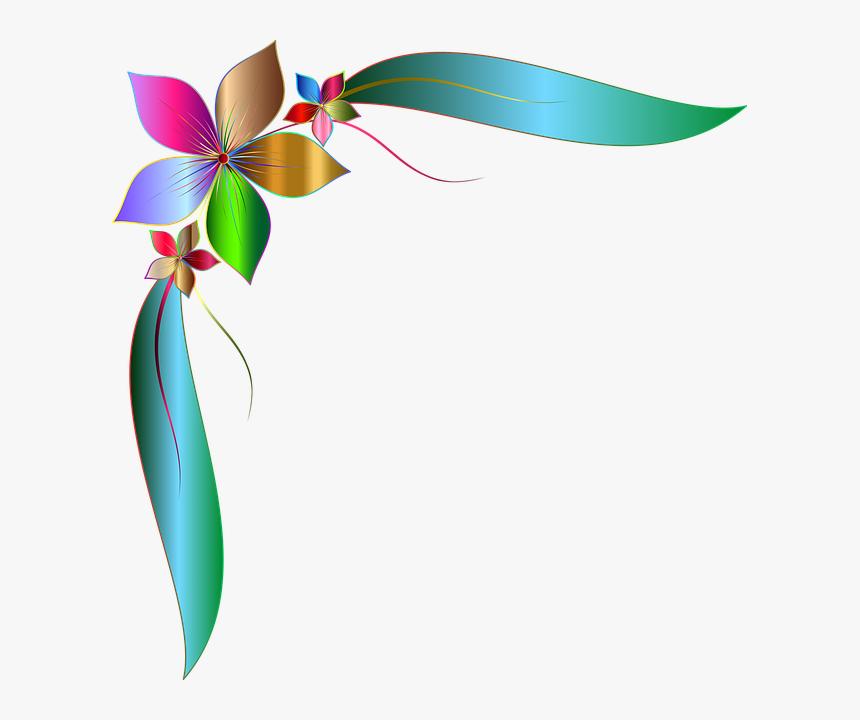 Corner, Ornamental, Decorative, Floral, Flower, Leaf - Corner Floral Design Png, Transparent Png, Free Download