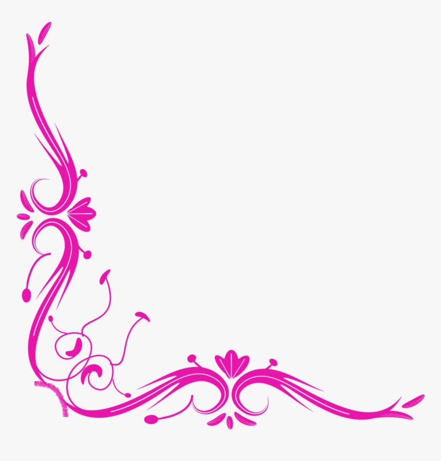 Design Side Border Png, Transparent Png - Pink Border Design Png, Png Download, Free Download