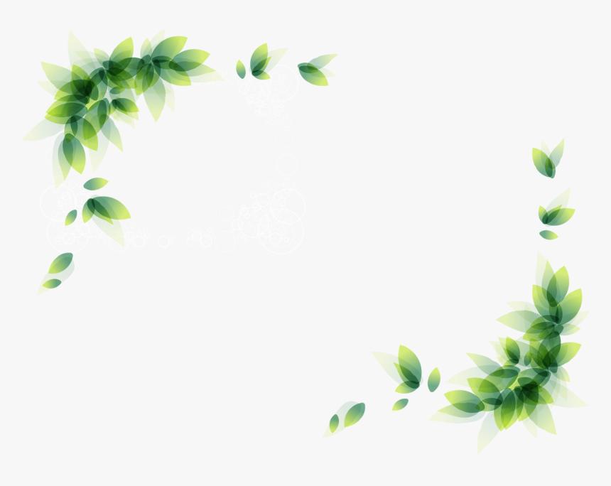 Clip Art Green Leaves Border Transprent Png Ⓒ - Flower Corner Borders Png, Transparent Png, Free Download