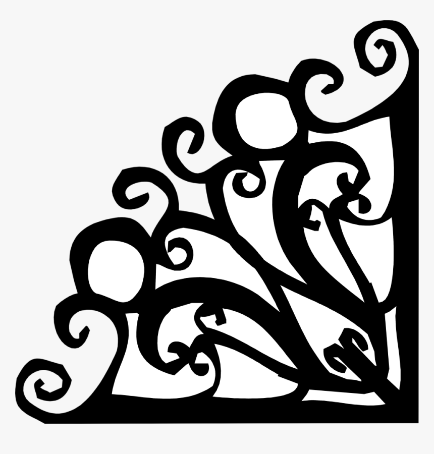Corner Lower Right - Fancy Scroll Corner Clipart, HD Png Download, Free Download