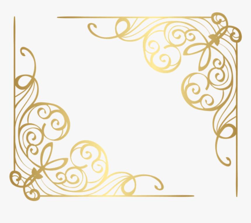 Corner Transparent Design - Corner Gold Border Png, Png Download, Free Download