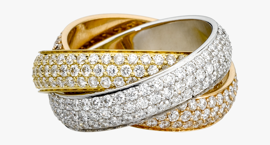 Gold Ring Wedding Png Image - Cartier Trinity Ring Copy, Transparent Png, Free Download