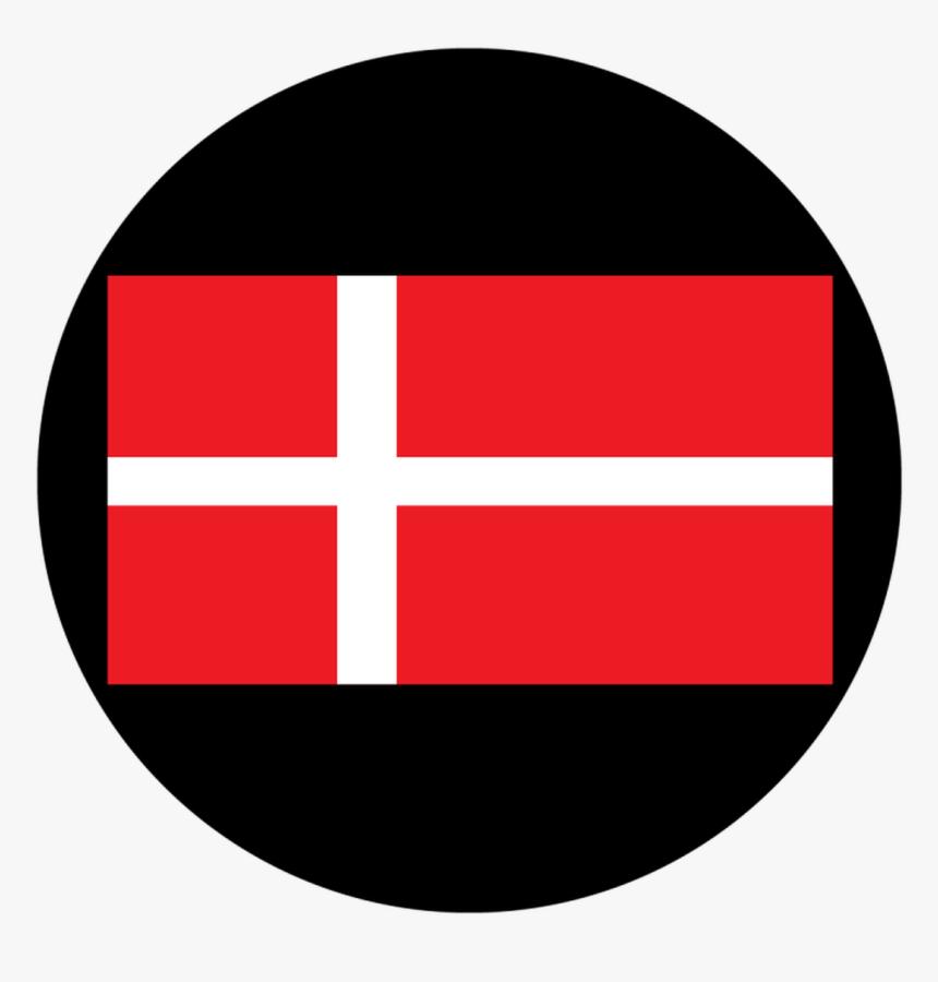 Apollo Design 1178 Danish Flag Glass Pattern - Circle, HD Png Download, Free Download