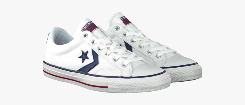 Converse Sneaker Heren Wit Leer, HD Png Download - kindpng