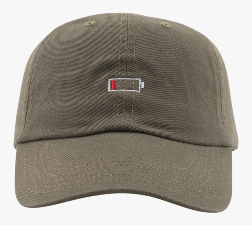 Low Battery Hat Olive - Baseball Cap, HD Png Download, Free Download
