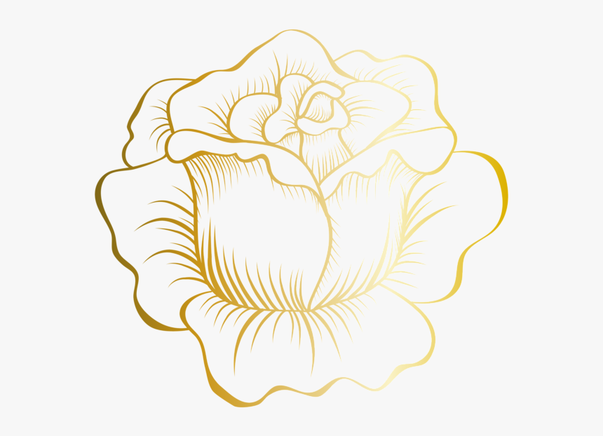 #goldrose #rose #gold #decor #decals #decoration #icon - Gold Flower Clip Art, HD Png Download, Free Download