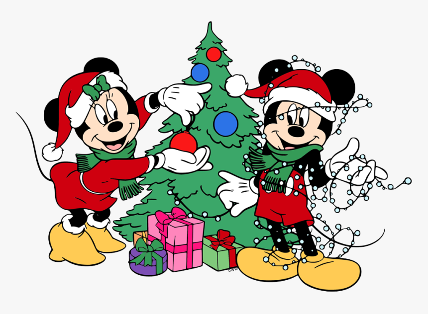Mickey Mouse Christmas Tree Cartoon, HD Png Download, Free Download