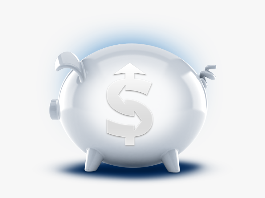 3d White Choice Money Market Account Featuredsection - Domestic Pig, HD Png Download, Free Download