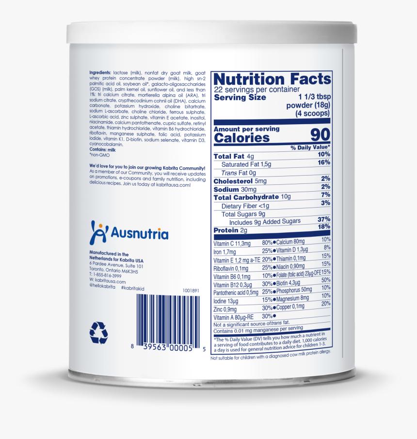 Kabrita Goat Milk-based Toddler Formula, Powder - Kabrita 1 Nutrition Facts, HD Png Download, Free Download