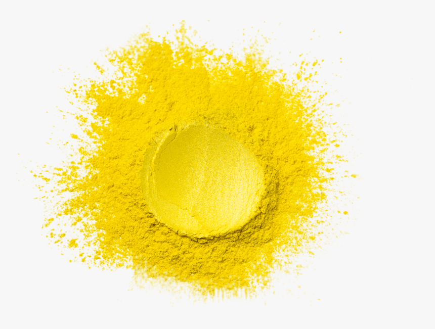 Powder - Yellow Luster - Metallic Paint - Water Based - Circle, HD Png Download, Free Download
