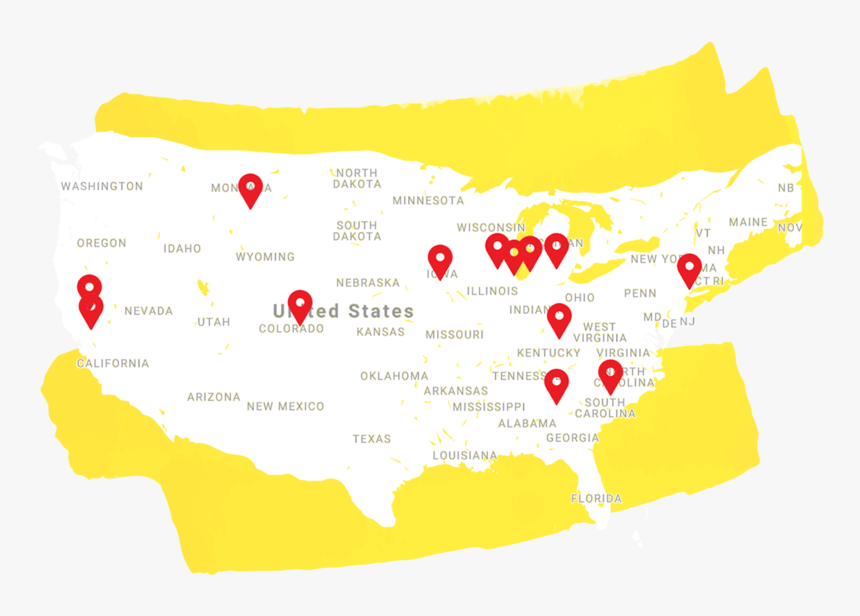 Map Image Yellow Splatter - Graphic Design, HD Png Download, Free Download