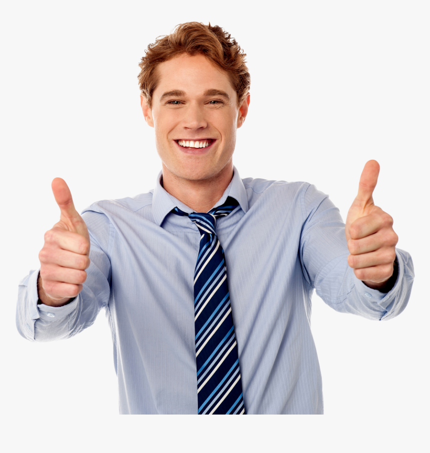 Men Pointing Thumbs Up Png Image - Person Thumbs Up Png, Transparent Png, Free Download