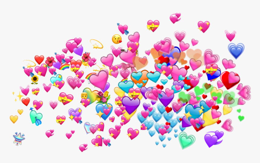 #wholesome #emoji #meme - Love Meme Hearts Png, Transparent Png, Free Download