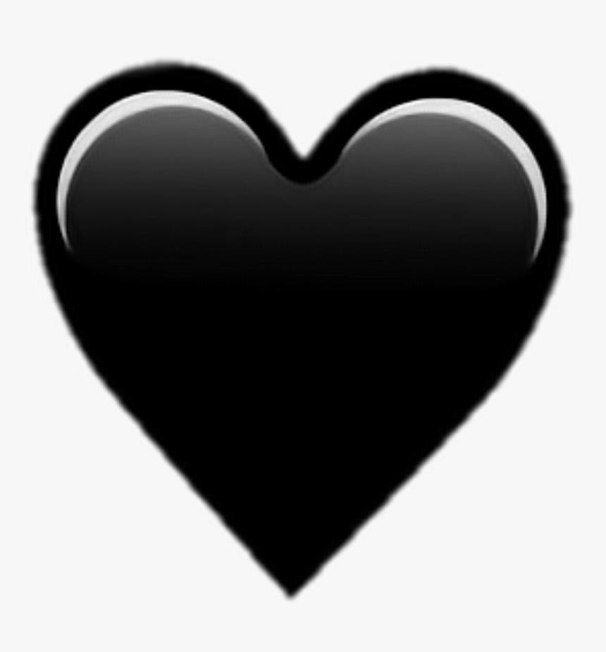 #black #heart #hearts #emoji #emojis #aesthetic #tumblr - Iphone Emoji Black Heart, HD Png Download, Free Download