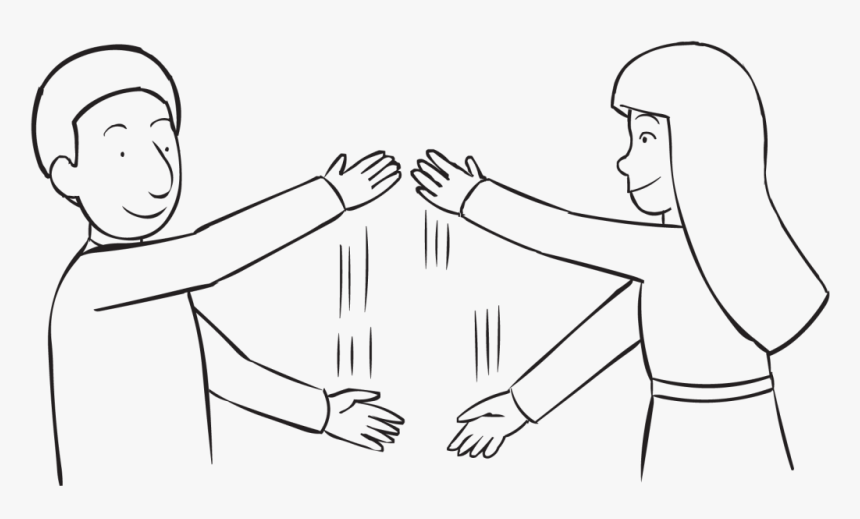 Two People Waving Their Arms In Front Of Themselves - Slice N Dice Team Building Game, HD Png Download, Free Download