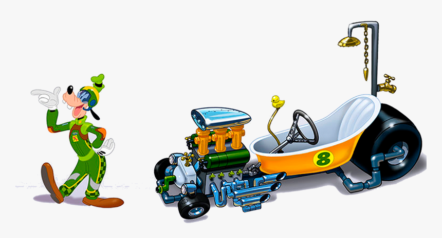 Mickey And The Roadster Racers Goofy Car, HD Png Download, Free Download