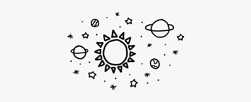 #sticker #sun #planets #stars #doodle #space - Space Theme Divider, HD Png Download, Free Download